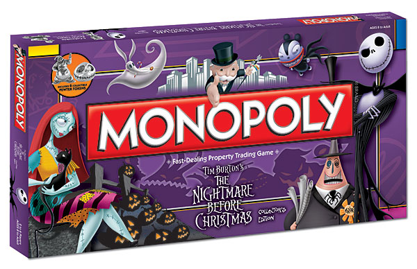 Tim Burton's Nightmare Before Christmas Monopoly