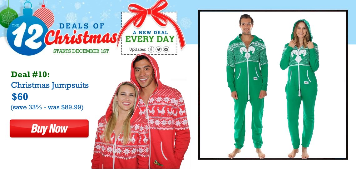 $60 Christmas Jumpsuits