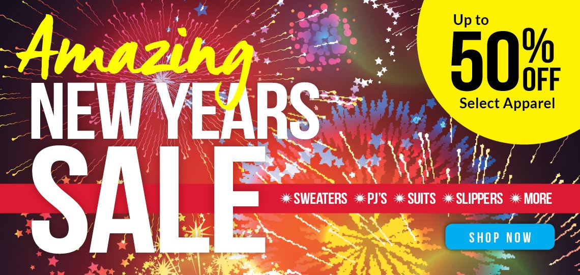 New Year's Sale | Up to 55% Off | Sweaters, PJs and so much more.
