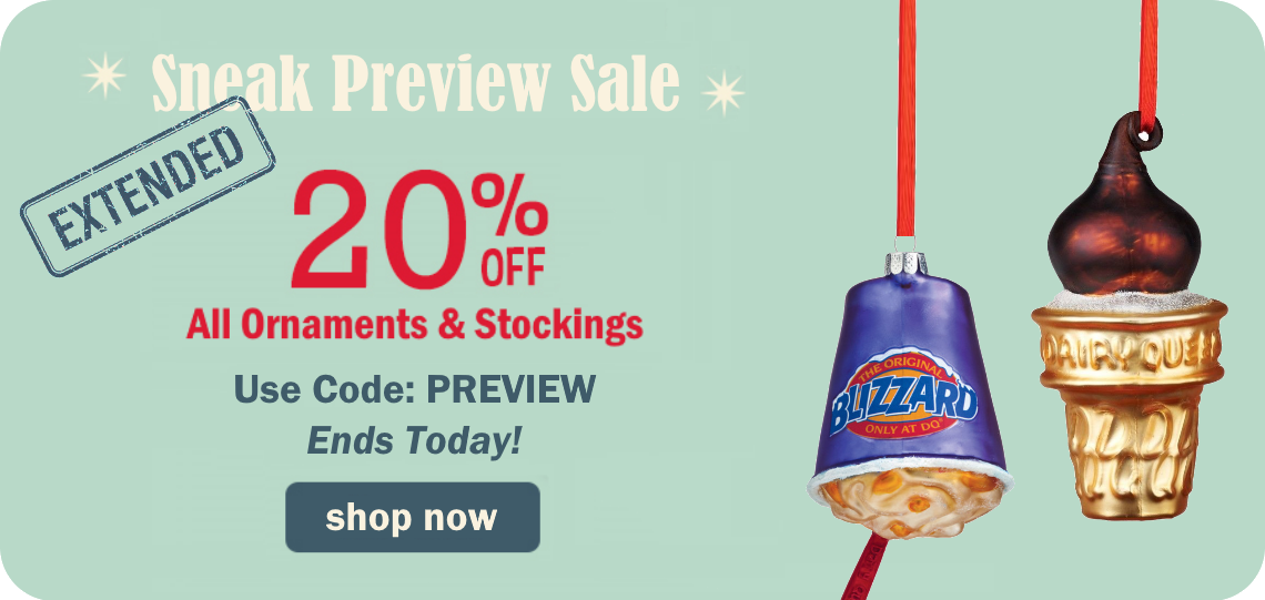 20% Off Ornaments & Stockings